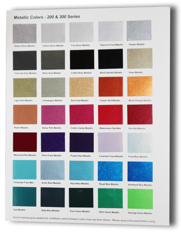 Metallic car paint color chart 15