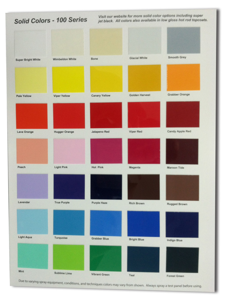 Dupont Single Stage Paint Colors